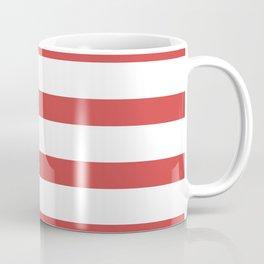 Red Stripes on White Background Coffee Mug