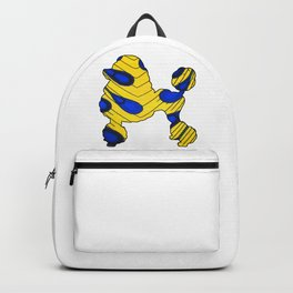 Gold and Blue Poodle Backpack