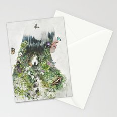 Cat in the Garden of Your Mind Stationery Cards