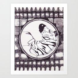 The Zebra Portrait Art Print