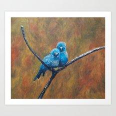 Canary Love Birds Art Print