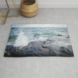 Rough waters- color  Rug