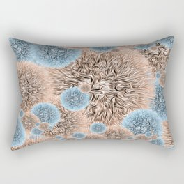 Vintage Warm Fuzzy Portrait Rectangular Pillow