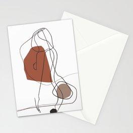 Minimal line art nude Stationery Cards