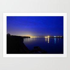 Looking toward the confluence at daybreak...  Art Print
