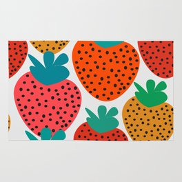 Funny strawberries Rug
