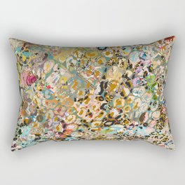new leopard confetti rose Rectangular Pillow