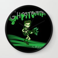 ghostbusters Wall Clocks featuring Ghostbusters by Glopesfirestar