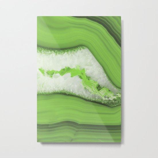 Greenery Agate Metal Print