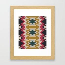 Bohemian Style Geometric Pattern Framed Art Print