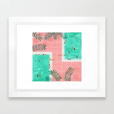 Poolside Framed Art Print