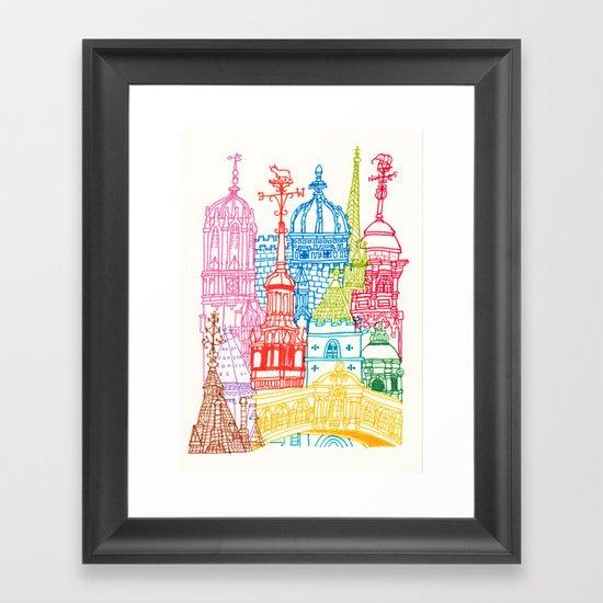 Oxford Towers  Framed Art Print
