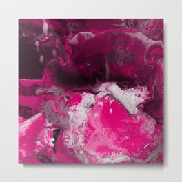 Abstract Ultra Violet Metal Print