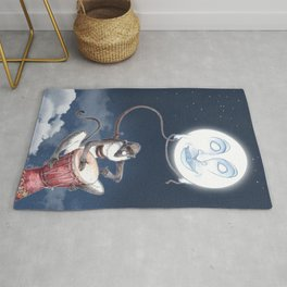 The Monkey the Moon and the Djembe Drum - African Legend Rug