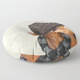 Elegant Mr. Dachshund Floor Pillow