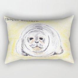 Phoque Mondays Rectangular Pillow