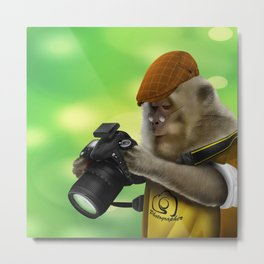Photographer of the apes iPhone 4 4s 5 5c 6 7, pillow case, mugs and tshirt Metal Print