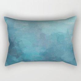 Mint, Aqua, Turquoise, Navy, Blue, Nautical Wall Art, Abstract Art Prints, Wall Decor, Abstract Painting, Modern Minimal Art Rectangular Pillow