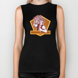 Builder Carpenter Carry House Retro Biker Tank