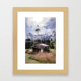 Broken house Framed Art Print