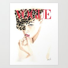 Fashion Illustration. Vogue. Magazine Cover. Art Print