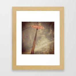 Backwards Stop Framed Art Print