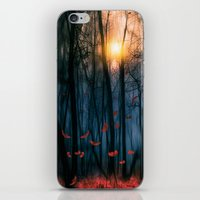 anna iPhone & iPod Skins featuring Red feather dance  (colour option) by Viviana Gonzalez