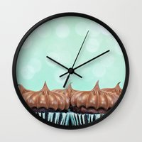 tooth Wall Clocks featuring Sweet Tooth  by Laura Ruth