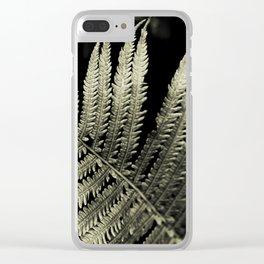 Silver Toned Ferns Glow In A Cedar Forest Clear iPhone Case