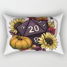 Harvest D20 - Autumn Tabletop Gaming Dice Rectangular Pillow