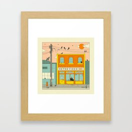 VIDEO STORE Framed Art Print