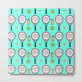 Flat Padel crazy design love tennis Metal Print