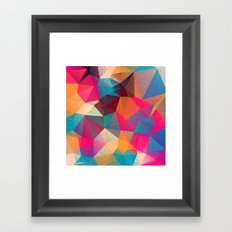 Abstract Polygonal Pattern 15 Framed Art Print