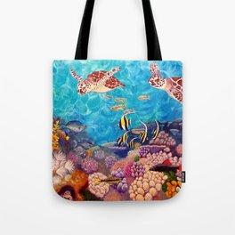 Zach's Seascape - Sea turtles Tote Bag