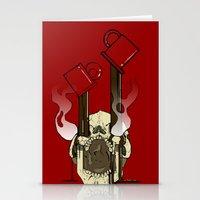 pocket fuel Stationery Cards featuring Skull Fuel by Allbrotnar