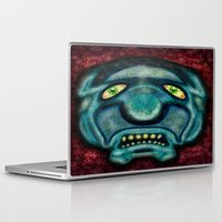 the cure Laptop & iPad Skins featuring No Cure For Ugly by Gene S Morgan