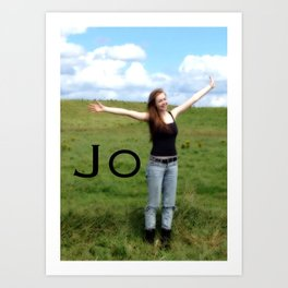 Joy!   Quote   Nadia Bonello Art Print
