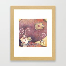 The key to my thoughts Framed Art Print