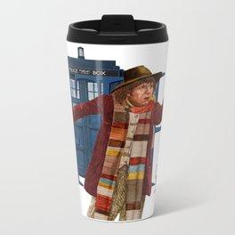 4th Doctor Metal Travel Mug