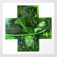 Religion green Art Print