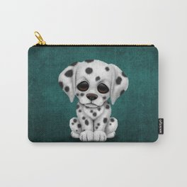 Cute Dalmatian Puppy Dog on Blue Carry-All Pouch
