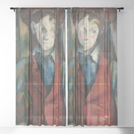 Boy in a Red Waistcoat Sheer Curtain