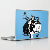 israel Laptop & iPad Skins featuring Israel sharpens defenses by Jonas Keppens