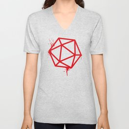 DnD Tabletop D20 Dice RPG Dungeons and Dragons Inspired Tabletop RPG Gaming Unisex V-Neck