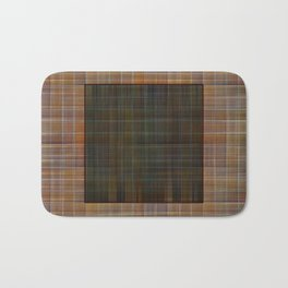 Patched plaid tiles pattern Bath Mat