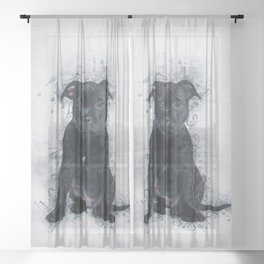 Staffordshire Bull Terrier Sheer Curtain