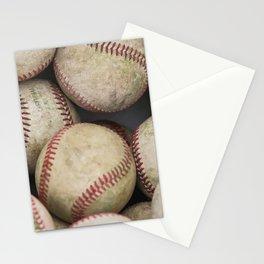 Many Baseballs - Background pattern Sports Illustration Stationery Cards
