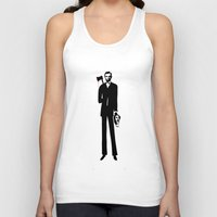 lincoln Tank Tops featuring Abe Lincoln by virginia odien