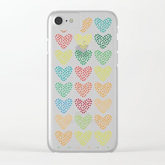 Love Love Love Love Clear iPhone Case
