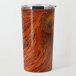 Orange Lily Fractal Travel Mug